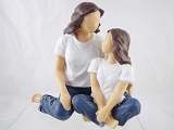 The Bond - Mother and Daughter Resin Figurine - Forever in Blue Jeans