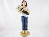 Thinking of You - Gift of Daisy Bouquet - Forever in Blue Jeans - Resin Figurine