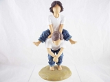 Leap Frog - Boy and Girl Playing - Forever In Blue Jeans - Resin Figurine - Retired