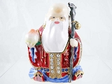 Asian Bearded Old Man - Wise Man - Bejeweled Enameled Pewter Trinket Box