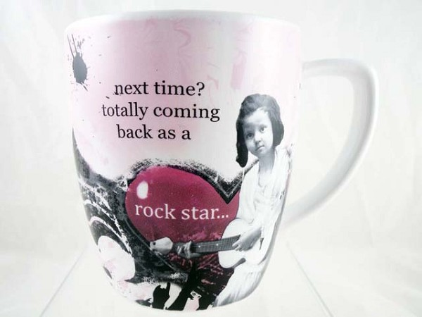 """Next Time? Totally Coming Back As A Rock Star"" - Holy Crap Mug/Cup - Porcelain 12 Oz"