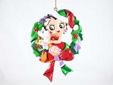 Betty Boop and Pudgy in Wreath - Hanging Resin Ornament - Betty Boop by Britto