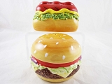 Get Grillin' - Hamburger & Hot Dog Salt & Pepper Set - Ceramic - Clay Art