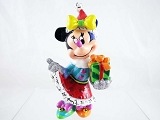 Minnie Holiday Mini - Festive Santa Dress - Disney by Britto - Resin Figurine