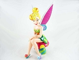 Tinker Bell Sitting on Mushroom - Beautiful Pop-Art Colors - Disney by Britto - Resin Figurine