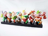 Seven Dwarfs on Log - Snow White - Brilliant Pop-Art Colors - Disney by Britto - Resin Figurine