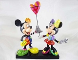 Mickey and Minnie with Balloon - NLE of 3,000 with COA - Disney by Britto - Resin Figurine