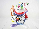 White Rabbit Mini Figurine - Alice in Wonderland - Disney by Britto - Resin Figurine