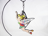 Flying Tinker Bell - Soft Vinyl Keychain - Pop-Art Colorful - Disney by Britto