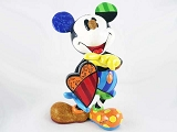 Mickey Mouse Holding Spinnable Heart - Disney by Britto - Resin Figurine