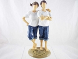 Lifelong Friends - Young Girl & Boy - Forever in Blue Jeans - Resin Figurine - Retired
