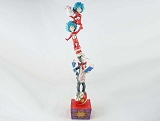 Cat In The Hat Stack - Cat, Thing 1 and Thing 2 - Dr Seuss by Jim Shore - Resin Figurine