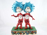 Thing 1 and Thing 2 - Mischief Twins from Cat in the Hat - Dr Seuss by Jim Shore - Resin Figurine