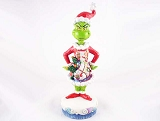 The Grinch As Santa - Resin Figurine - Sleigh Scene on Front of Shirt - The Grinch by Jim Shore