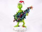 The Grinch Stealing Tree - Sneaking Off w Decorated Tree - The Grinch by Jim Shore - Resin Figurine