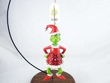 """Grinch as Santa"" - Hanging Resin Ornament - Dr Seuss How The Grinch Stole Christmas - Jim Shore"