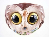Folk-Art Harvest Owl - Mini Tea-Light Candle Holder - Jim Shore Heartwood Creek - Resin