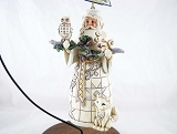 White Woodland Santa Hanging Ornament - Jim Shore Heartwood Creek - Resin Ornament