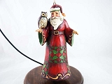 Santa w Owl - Hanging Resin Christmas Ornament - Jim Shore Heartwood Creek