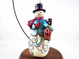 Snowman w Cardinal, Birdhouse Hanging Christmas Ornament - Jim Shore Heartwood Creek