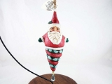 Winter Wonderland Santa  - Hanging Resin Ornament with Crystal - Jim Shore Heartwood Creek