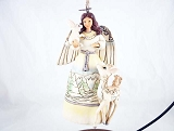 White Woodland Angel Hanging Resin Ornament - Jim Shore Heartwood Creek