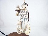 White Woodland Snowman Hanging Resin Ornament - Jim Shore Heartwood Creek
