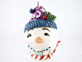 Snowman - 2016 Hand-Painted Holiday Egg - Jim Shore Heartwood Creek - Stone Resin Ornament