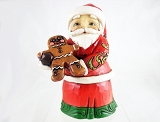 Santa with Gingerbread Man - Mini Stone Resin Figurine- Jim Shore Heartwood Creek