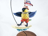 Margaritaville Parrot Surfing - Hanging Resin Christmas Ornament - Jim Shore