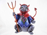 Frightful Feline - Devilish Halloween Cat - Jim Shore Heartwood Creek - Pint-Size Resin Figurined