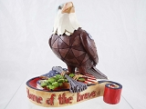 Mini Patriotic Bald Eagle - Jim Shore Heartwood Creek - Resin Figurine