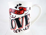 Cup Of Love - All You Need Is Love and Coffee - 16 oz Stoneware Mug - Our Name Is Mud