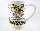 Cup Of Sunshine - Wake Up and Be Awesome!- 16 oz Stoneware Mug - Our Name Is Mud