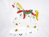 Season's Greetings Mini Pony - Christmas, December Events - Celebrations - Trail Painted Ponies