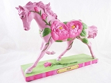 Petals Pony - Pink Peonies - 1E - Spring 2014 Trail of Painted Ponies - Resin Figurine - Retired
