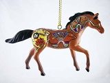 Spirit Bear Pony - Hanging Resin Christmas Ornament - 2017 Collector's Choice - Trail of Painted Ponies