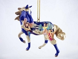 Angels on High  - Hanging Resin Christmas Ornament - Trail of Painted Ponies