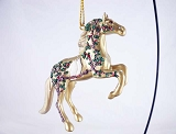 Wonderful Season of Peace - Hanging Resin Christmas Ornament - 2017 Trail of Painted Ponies