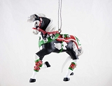 Jingle All The Way Pony - Hanging Resin Christmas Ornament - Holiday 2019 Trail of Painted Ponies