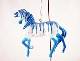 Holiday Ice Pony - Hanging Resin Christmas Ornament - Holiday 2019 Trail of Painted Ponies