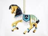 Turquoise Princess - Hanging Resin Christmas Ornament - 2020 Collector's Choice - Trail of Painted Ponies