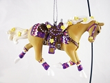 Buttercup Pony - Hanging Resin Christmas Ornament - 2020 Collector's Choice - Trail of Painted Ponies