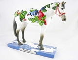 Winter Feathers Pony - Christmas Birds, Holly, Snow - Holiday 2020 - Trail of Painted Ponies - Figurine
