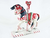 Peppermint Sticks Pony - Red, White Christmas Pony - Holiday 2020 - Trail of Painted Ponies - Figurine