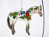 Winter Feathers - Hanging Resin Christmas Ornament - Birds, Holly - Holiday 2020 - Trail of Painted Ponies