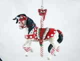 Peppermint Sticks - Hanging Resin Christmas Ornament - Holiday 2020 - Trail of Painted Ponies