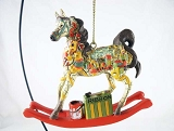 Santa's Workshop Hanging Resin Christmas Ornament - Holiday 2018 Trail of Painted Ponies