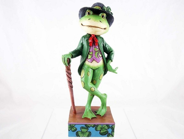 """Go Green"" - Irish Frog - St. Patrick's Day - Jim Shore Heartwood Creek - Resin Figurine"