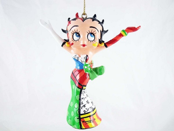 Betty Boop w Arms Raised - Hanging Resin Ornament - Betty Boop by Britto